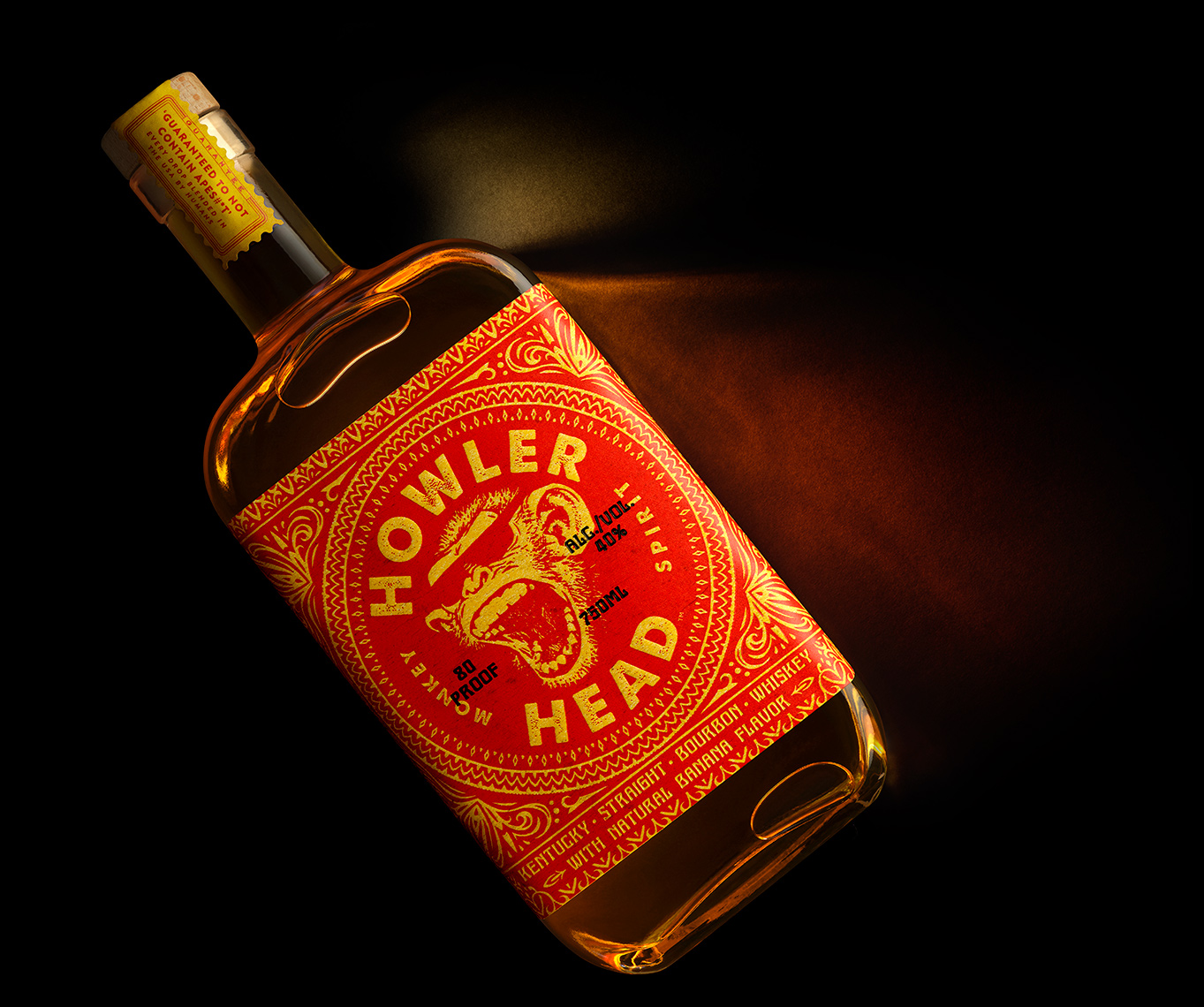 Red Productions Product & Still Life Photography Howler Head Kentucky Straight Bourbon Whiskey Banana