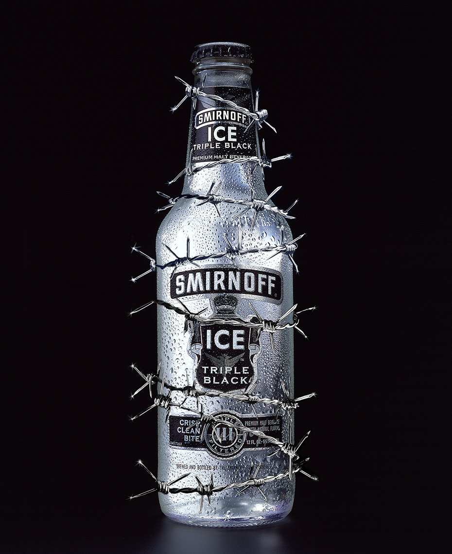 Red Productions Product & Still Life Photography Smirnoff Ice Triple Black